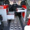 Установка модульной системы ORSY Wurth для хранения инструмента и запчастей на автомобиль  Land Rover Defender 90 (Лэнд Ровер Дефендер 90)