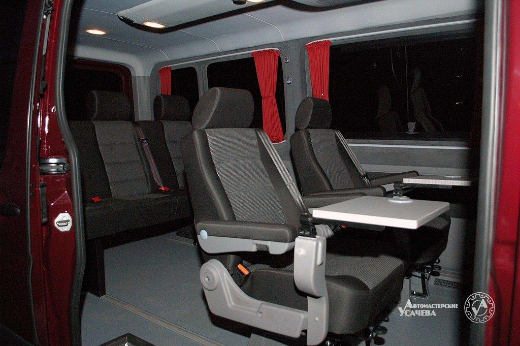 Установка сидений, диванов в автомобили