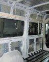 Перетяжка салона и изготовление перегородки с мультимедийным подиумом в Peugeot Boxer 8