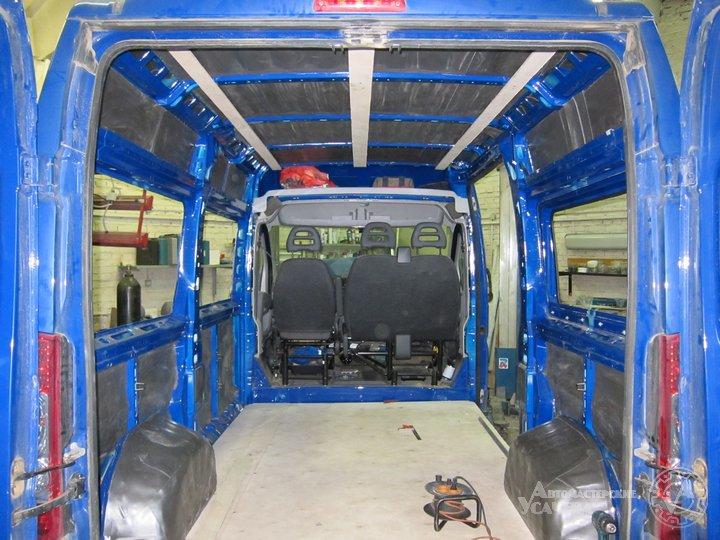 Переделка грузового микроавтобуса в пассажирский своими руками